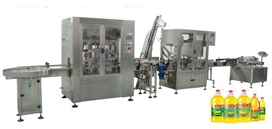 食用油灌装旋盖生产线/全自动食用油定量灌装生产线